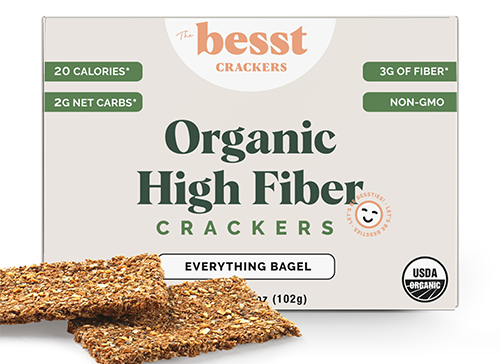 Besst Crackers just launched new Original and Everything Bagel product varieties, ramping up flavor in the snacking sector