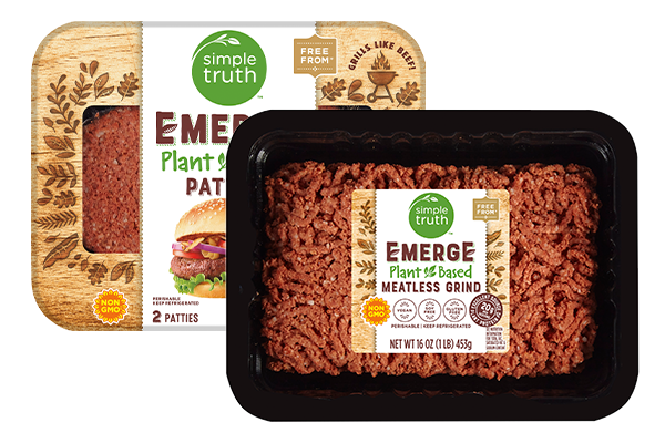 Kroger announced the launch of Simple Truth Emerge™: Plant Based Fresh Meats, tapping into the increasing popularity of good-for-you and plant-forward foods