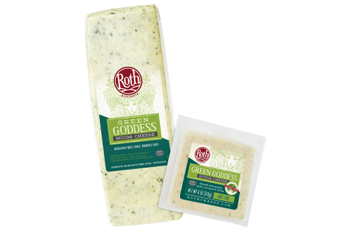 Emmi Roth showed off its latest product—Green Goddess Gouda