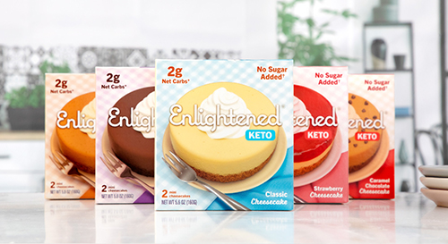 Enlightened, the frozen dessert connoisseur, has released two new lineups of keto-friendly, low-carb dessert options