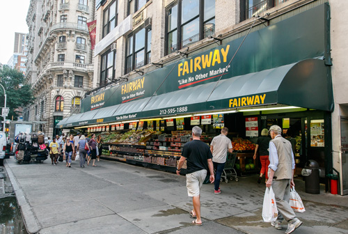 "Bogopa Enterprises' grocery operations submitted a ""qualified overbid"" of $75 million for six Fairway stores, as well as a distribution center"