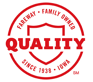 Fareway's new shield of quality icon