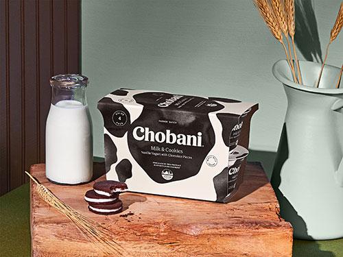 With every purchase of the new Farmer Batch Chobani Greek Yogurt Milk & Cookies 4-pack, Chobani is donating 10 cents to American Farmland Trust
