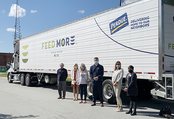 Perdue Farms recently unveiled a new refrigerated tractor-trailer to support Feed More of Richmond, Virginia, as part of the company's 100th anniversary celebration