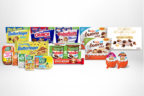 Ferrero North America recently revealed new products and initiatives coming to the U.S. at the 2021 Sweets & Snacks Expo (Photo credit: Cision US inc.)