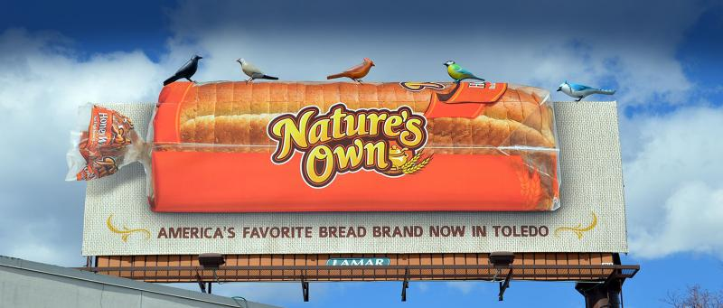 "Source: Lamar Advertising http://www.lamar.com/scranton ""While Nature's Own is the No. 1 best-selling bread brand in the U.S.,* new markets are generally unaware of it."""