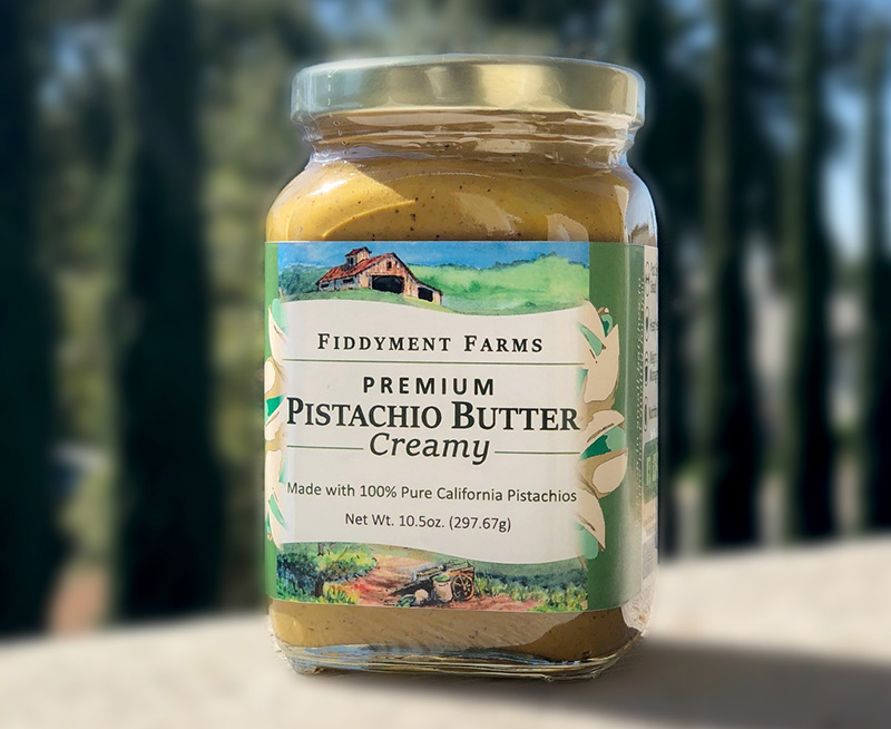 Fiddyment Farms' Premium Pistachio Butter is made from 100% California-grown gourmet pistachios