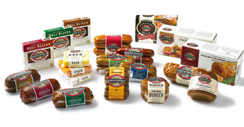 Field Roast's ever-expanding array of products includes roasts, sausages, deli slices, loaves, a frankfurter, a burger, and plant-based cheese slices