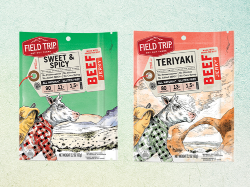 Field Trip Jerky has a range of offerings including Sweet & Spicy, and Teriyaki Beef Jerkys