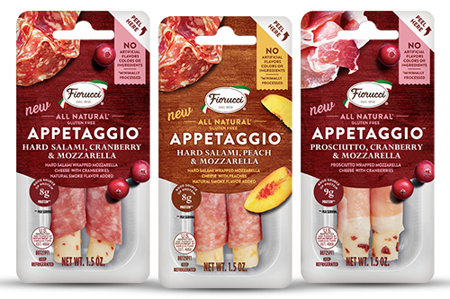 The Appetaggios combine sweet fruit flavors with mild, milky, rBST-free mozzarella, which is rounded out by the smoky meat