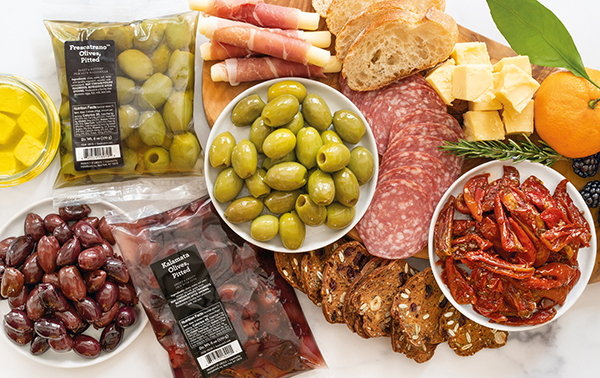 In addition to Champignon's Briette and Roguette Bonfire Grilling cheeses, the new merchandising set will feature FOODMatch's line of Mediterranean specialty products