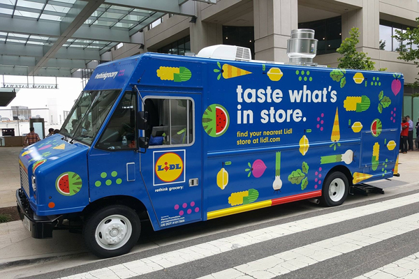 Lidl is launching a food truck to make grocery deliveries in vulnerable areas, such as retirement communities, without any service fees