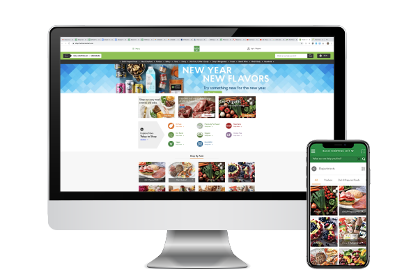 The Fresh Market launched a new online store along with a corresponding mobile app