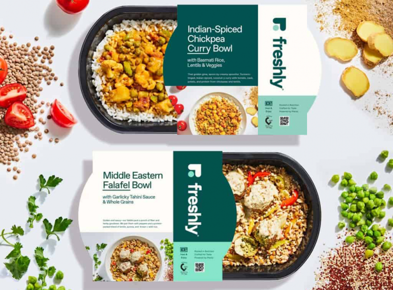 Nestlé brand Freshly has launched its first-ever plant-based line featuring six new meals with protein derived from plants