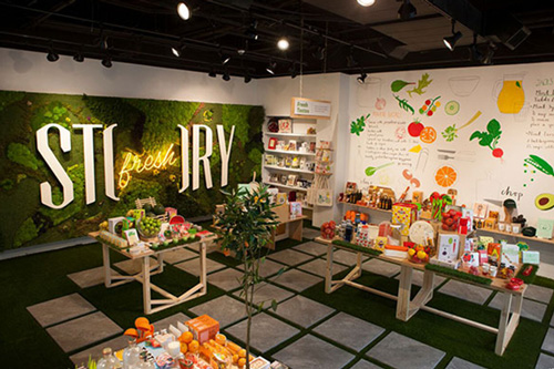 Jet's 'Story Fresh' concept grocery store.