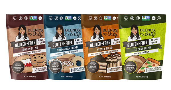 The Gluten-Free Blends are available in London Blend, Manhattan Blend, Sydney Blend, and Tuscany Blend