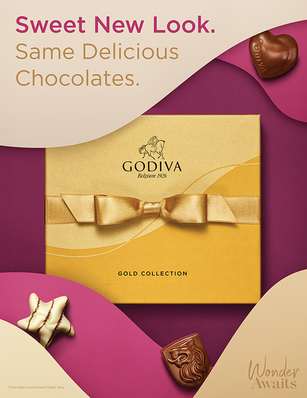 GODIVA has announced that it will relaunch its iconic Gold Collection that has been part of the brand's portfolio since its inception 100 years ago