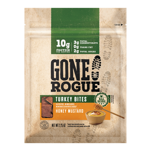 Land O'Frost recently announced the addition of All-Natural Turkey Bites to its selection of protein-centric snacks under its Gone Rogue® brand