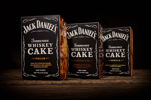 Great Spirits Baking Company's new line features Jack Daniel's Tennessee Whiskey Cakes in Pecan, Chocolate, and Vanilla