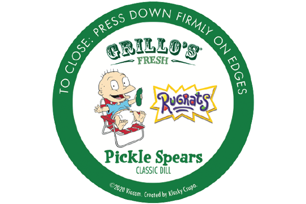 Grillo's Pickles and Nickelodeon are collaborating to bring limited edition pickle packaging based on Rugrats