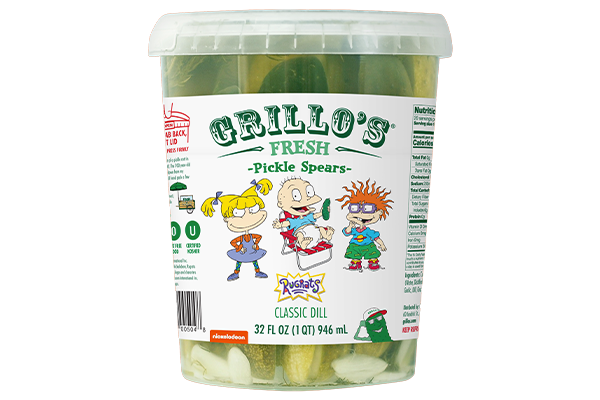 Grillo's Pickles' 32 oz Dill Pickle Spears will soon be available nationwide at retailers like Whole Foods, Target, and Safeway