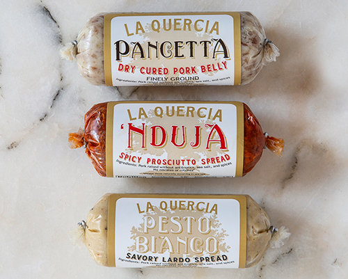 La Quercia highlights its new product line, a packaging refresh, and a new verification program through the Global Animal Partnership