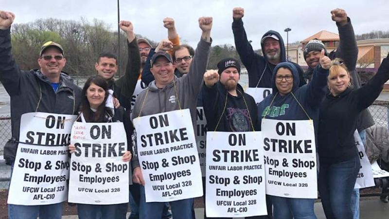 Stop & Shop has reached a tentative deal with 31,000 striking employees - Photo Credit: UFCW Local 328