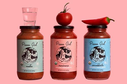 Pizza Girl™ is reentering the market with three updated sauce varieties: Marinara, Arrabbiata, and Vodka flavor profiles