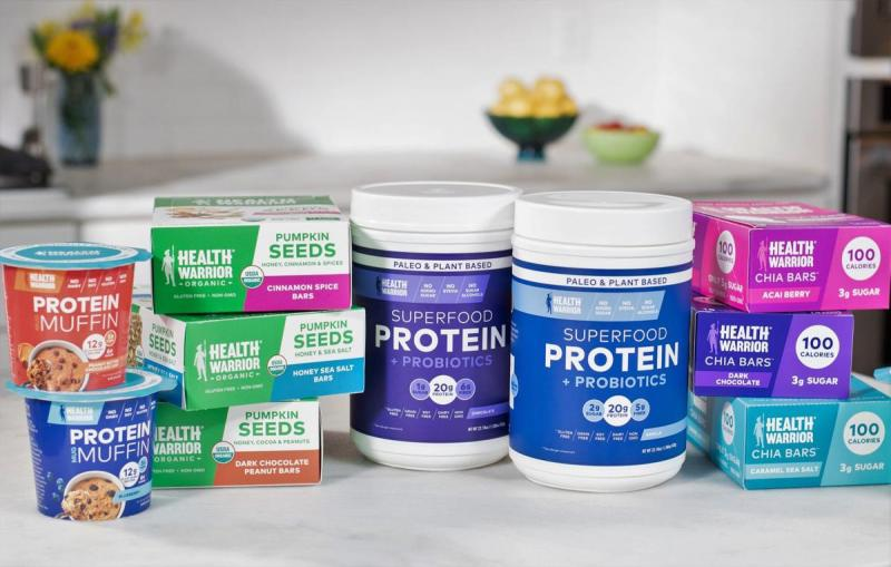 Health Warrior is a nutrition-forward company that makes plant-based products like nutrition bars and on-trend offerings