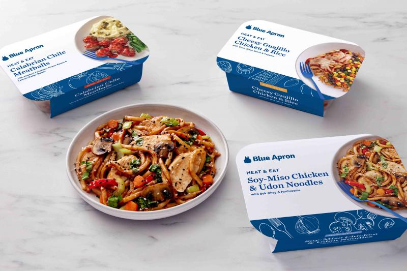 Expanding its portfolio of services and products, Blue Apron has launched Heat & Eat, the company's first-ever, prepared, single-serving meal offering