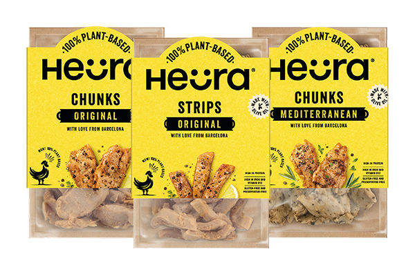 Plant-based meat provider Heura recently launched a new packaging format that reduces the use of plastic by 80 percent and honors its Mediterranean roots