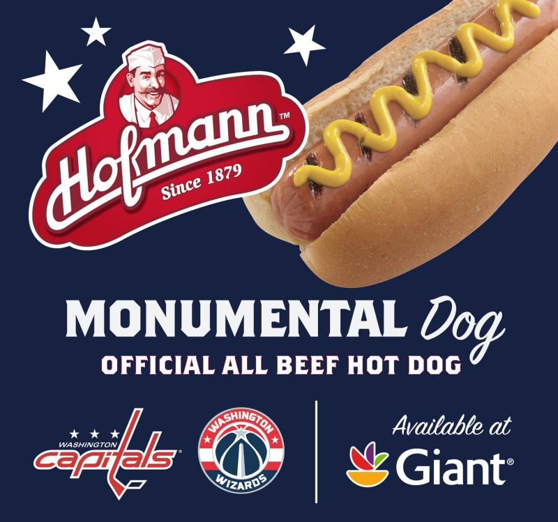 After premiering at Capitol One Arena, the Monumental Dog will hit Giant Food Store shelves this week