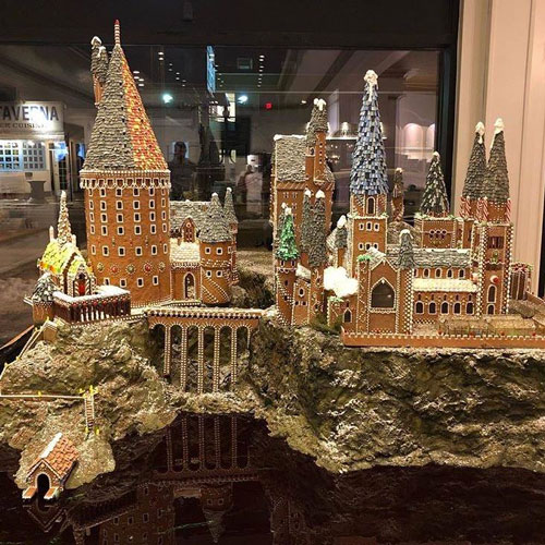 The Duchess Bake Shop recreated Hogwarts out of gingerbread