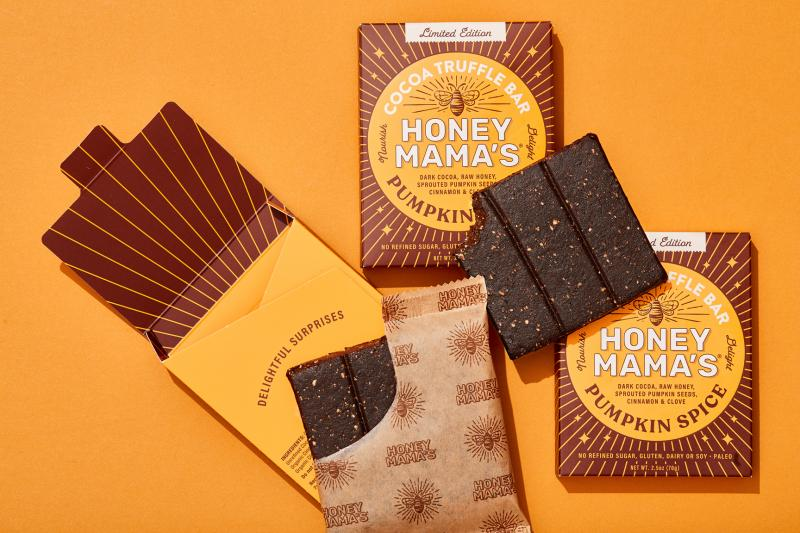 For a limited time, Honey Mama's will offer its new seasonal Pumpkin Spice cocoa truffle bar