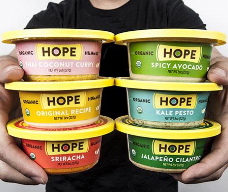 Hope Foods organic hummus varieties