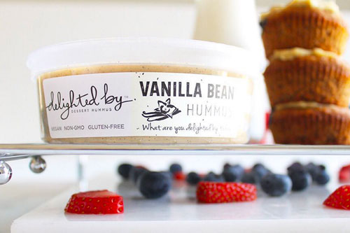 Delighted By's vanilla bean flavored hummus