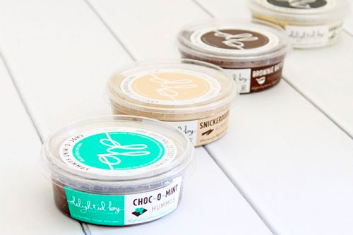 Delighted By's line of dessert hummus