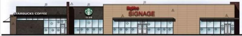 The Hy-Vee convenience store will include gas stations and a Starbucks. (Courtesy of City of Lakeville).