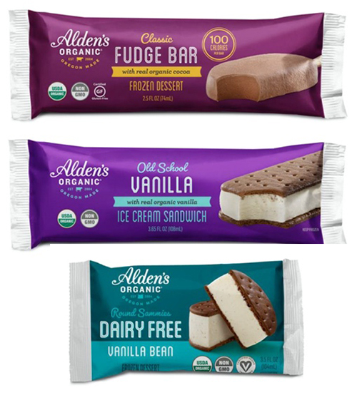 Alden's Organic is capitalizing on the single-serve eating experience, recently taking its top-selling novelties and packaging them into three single-serve products
