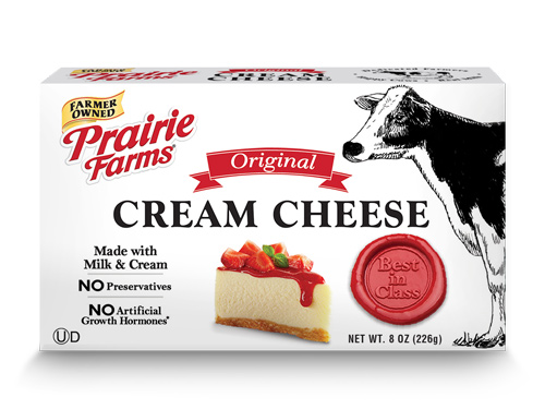Prairie Farms' new cream cheese is made with five simple ingredients with no preservatives or artificial growth hormones