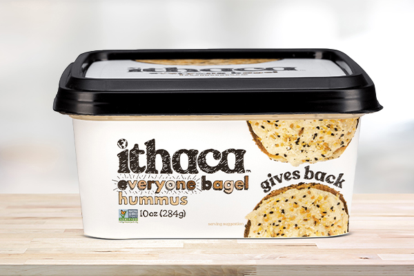 Ithaca announces its latest Everyone Bagel Hummus as part of its latest commitment to give back to community-based nonprofits
