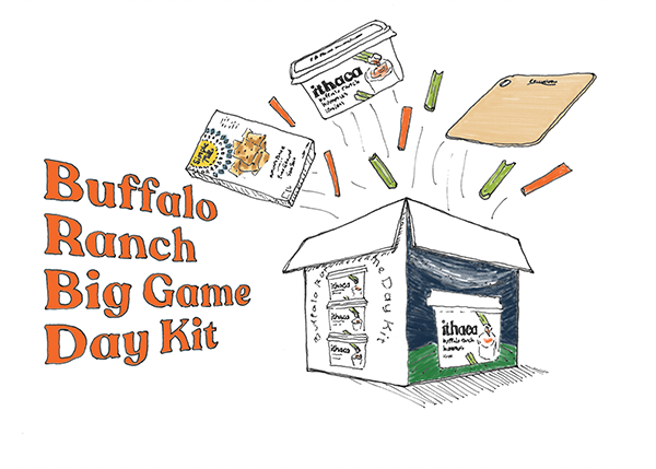 In anticipation for the upcoming Super Bowl, Ithaca Hummus has released its new Buffalo Ranch flavored hummus along with its limited-series Buffalo Ranch Big Game Day Kit