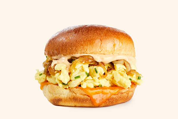 The breakfast sandwiches are available in 63 stores in the Southern Pacific Region (Southern California, Arizona, Hawaii, and Las Vegas) beginning early this month