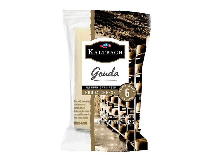 Made with milk from dairy farmers in central Switzerland, Kaltbach Cave-Aged Gouda naturally ripens for three months before curing in the mineral-rich environment of the sandstone Kaltbach Caves