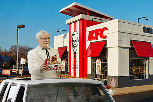 In Australia, KFC debuted its first drive-thru only restaurant