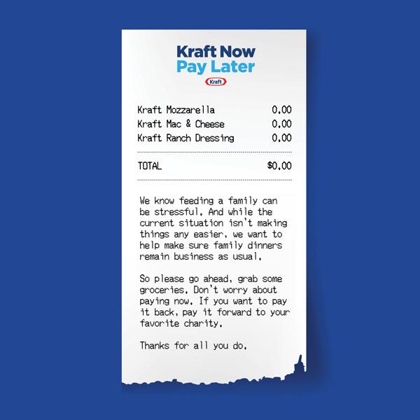 Kraft Now Pay Later Receipt