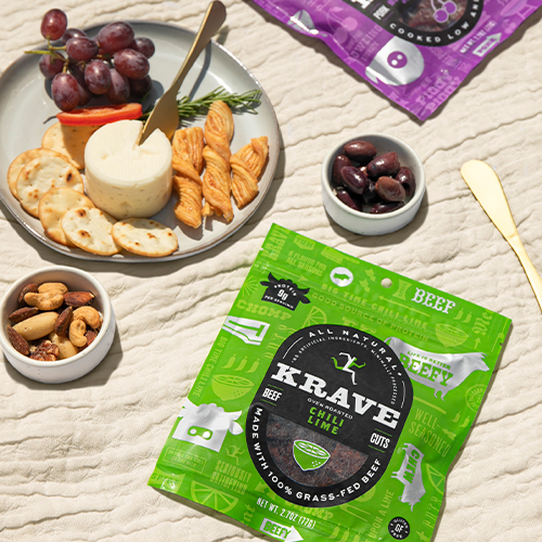 Alongside new packaging and a new website, KRAVE is making the move to offer 100 percent grass-fed beef jerky in its newest products