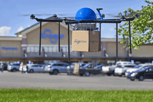 Kroger has tapped Drone Express, a division of TELEGRID Technologies, to offer shoppers the chance to have their items delivered with the company's autonomous drones