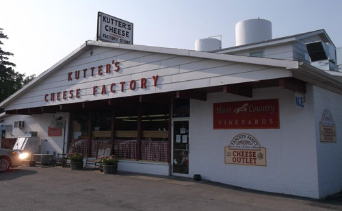 The Kutter's Cheese Factory outlet store outside the original factory