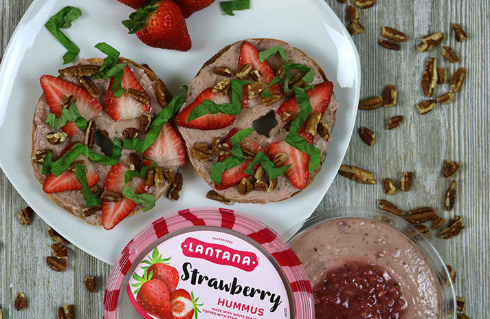 Lantana Strawberry Hummus is available in stores now